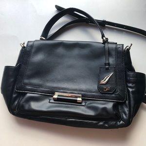 Diane Von Furstenberg black satchel